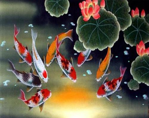 5D Diamond Painting Koi Fish Pond Kit