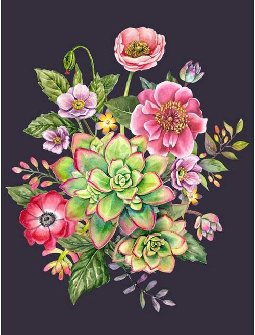 5D Diamond Painting Succulent Flower Bouquet Kit