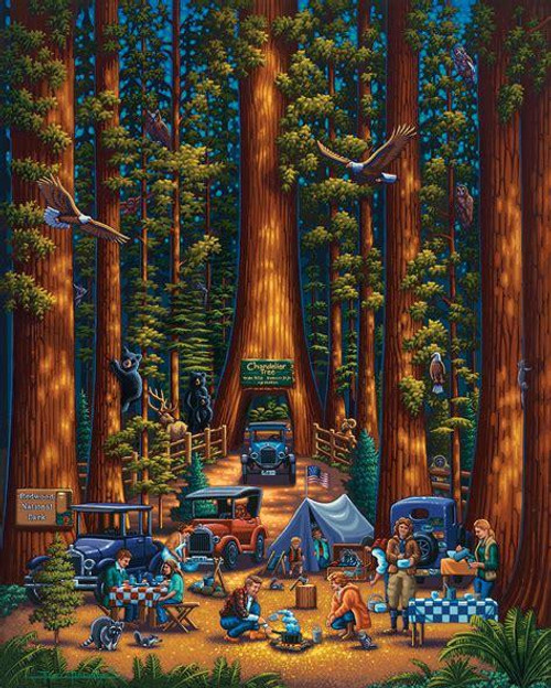 5D Diamond Painting Camping in the Woods Kit