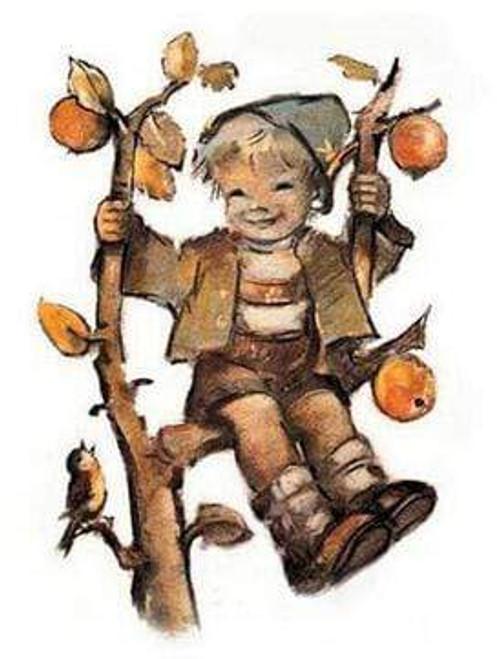 5D Diamond Painting Boy in an Apple Tree Kit