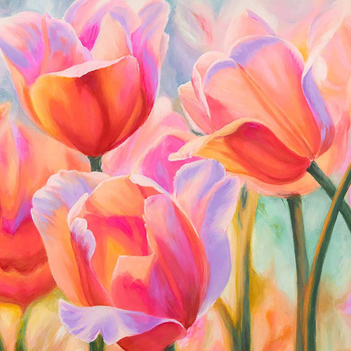 5D Diamond Painting Pretty Pink Tulips Kit