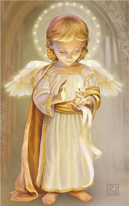 5D Diamond Painting Glowing Candle Angel Kit