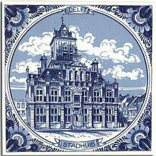 5D Diamond Painting Delft Blue Stadhuis Amsterdam Kit