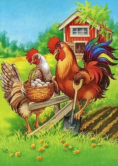 5D Diamond Painting Chickens and Eggs Kit