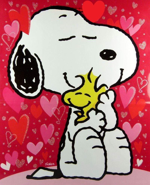 5D Diamond Painting Snoopy & Woodstock Valentine Kit