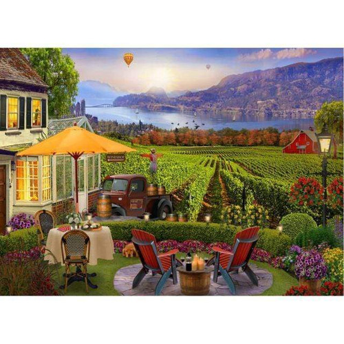 5D Diamond Painting Farm by the Water Kit