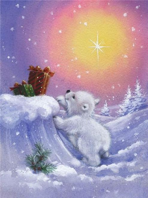 5D Diamond Painting Polar Bear Christmas Presents Kit