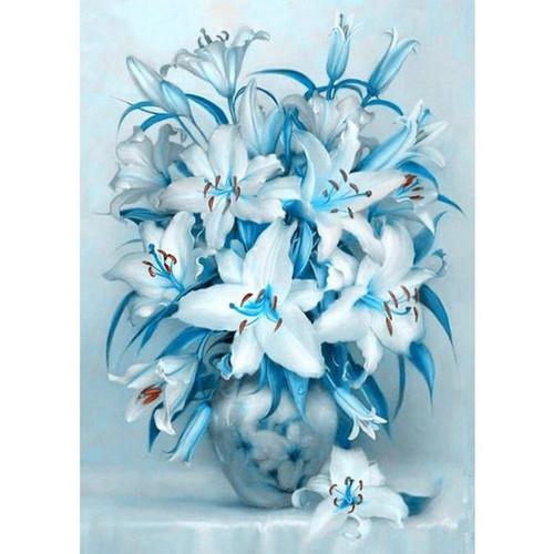 5D Diamond Painting Blue Lilies Kit