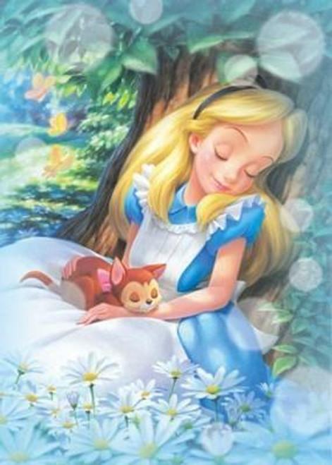 5D Diamond Painting Alice Asleep with a Cat Kit