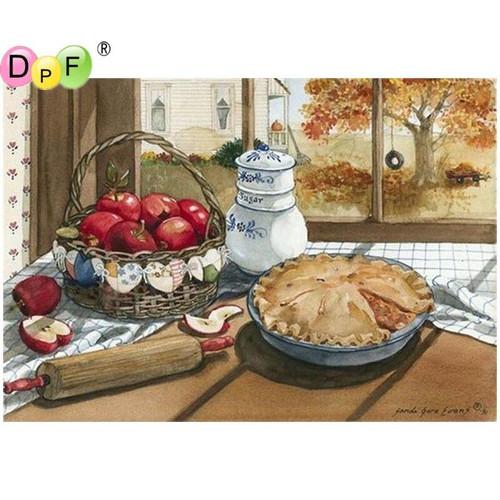 5D Diamond Painting Apple Pie on the Table Kit