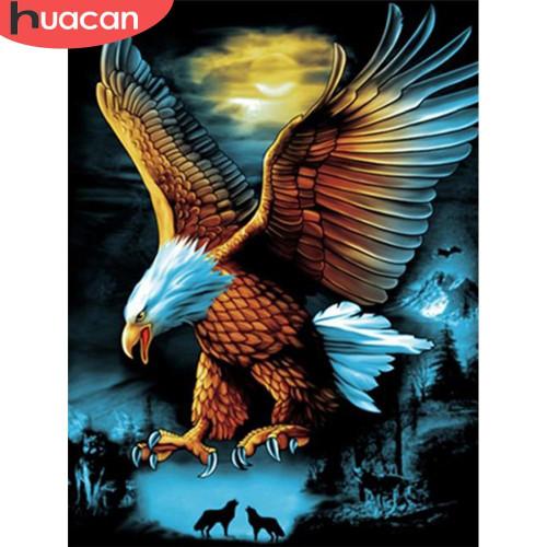 5D Diamond Painting Moonlight Eagle Kit