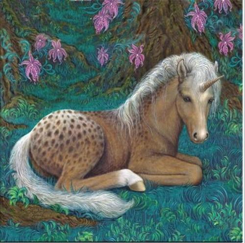 5D Diamond Painting Brown Little Unicorn Kit