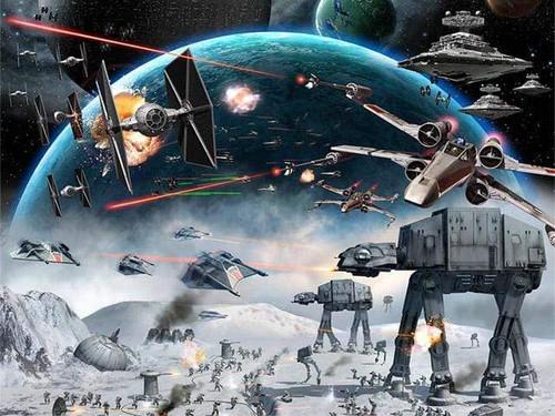 5D Diamond Painting Star Wars in Battle Kit