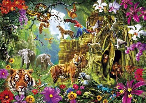 5D Diamond Painting Tigers & Animals of the Jungle Kit
