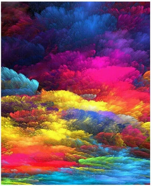 5D Diamond Painting Colorful Smoke Kit