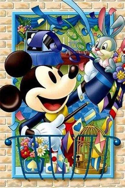 5D Diamond Painting Magic Hat Mickey Kit