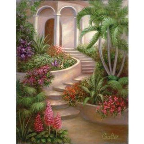 5D Diamond Painting Winding Garden Stairs Kit
