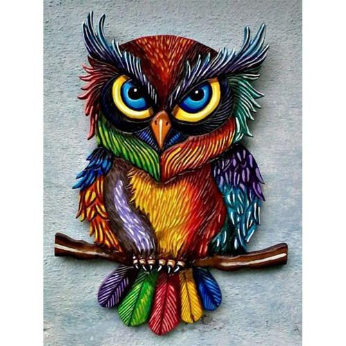 5D Diamond Painting Colorful Owl Kit