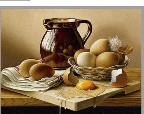 5D Diamond Painting Brown Egg Basket Kit