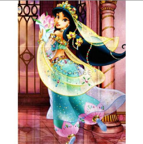 5D Diamond Painting Jasmine Holding Flowers Kit