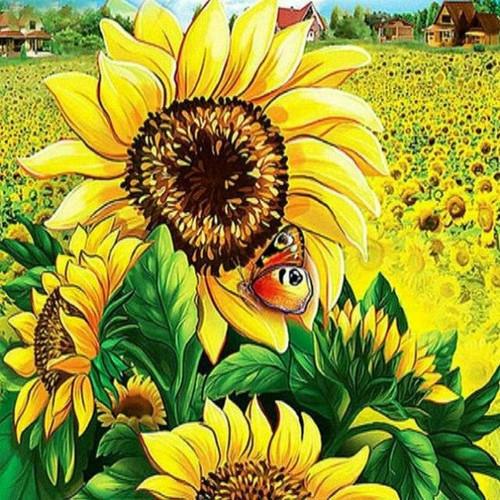 5D Diamond Painting Large Sunflower Kit