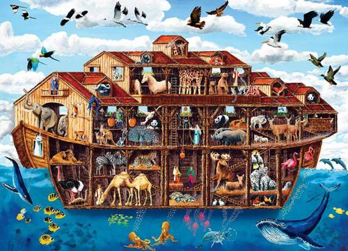 5D Diamond Painting Animals on Noah's Ark Kit