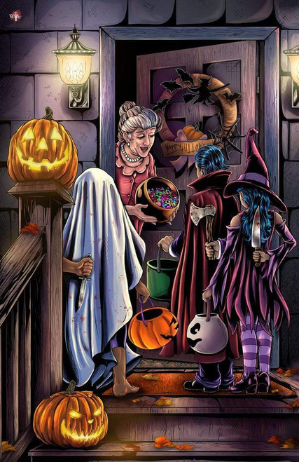 5D Diamond Painting Trick Or Treaters with Weapons Kit