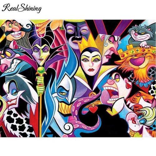 5D Diamond Painting Disney Abstract Villains Kit
