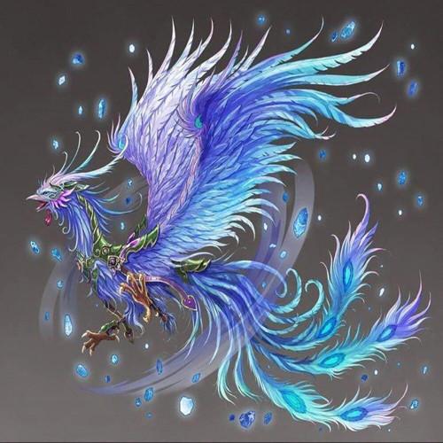 5D Diamond Painting Purple and Blue Phoenix Kit