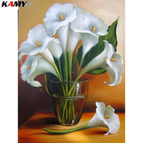 5D Diamond Painting White Calla Lilies Kit