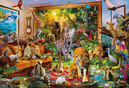 5D Diamond Painting Animals in the Living Room Kit