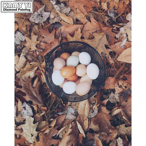 5D Diamond Painting Fall Leaves and Eggs Kit