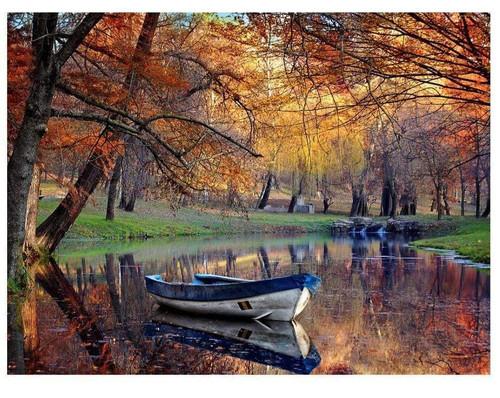 5D Diamond Painting River Canoe Kit