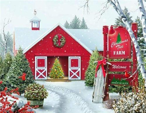 5D Diamond Painting Christmas Tree Farm Kit