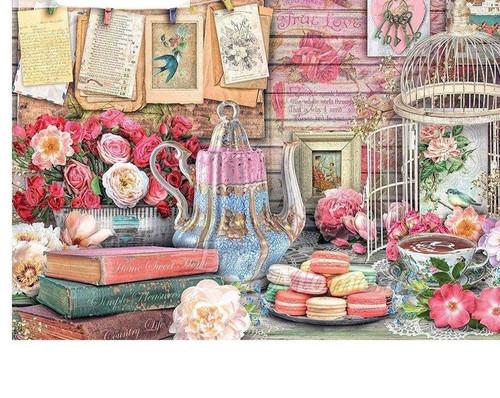 5D Diamond Painting Teapot and Birdcage Kit