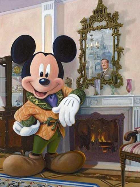 5D Diamond Painting Mickey by the Fire Kit