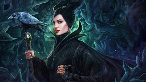 5D Diamond Painting Maleficent Staff & Crow Kit