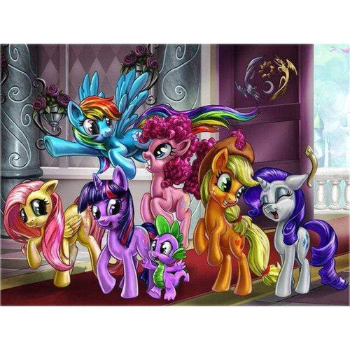 5D Diamond Painting Six My Little Ponies by the Door Kit