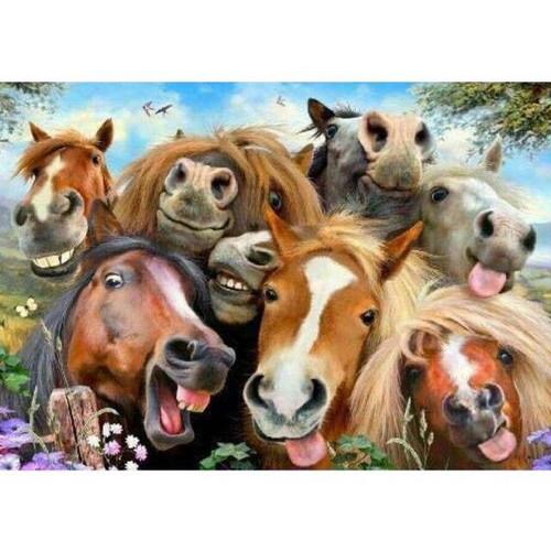 5D Diamond Painting Happy Horses Kit