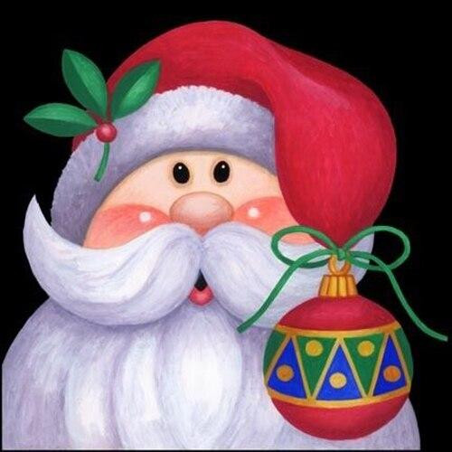 5D Diamond Painting Christmas Ornament Santa Kit