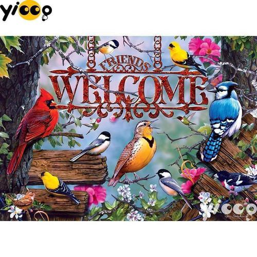 5D Diamond Painting Friends Welcome Bird Kit