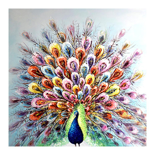 5D Diamond Painting Colorful Tail Peacock Kit