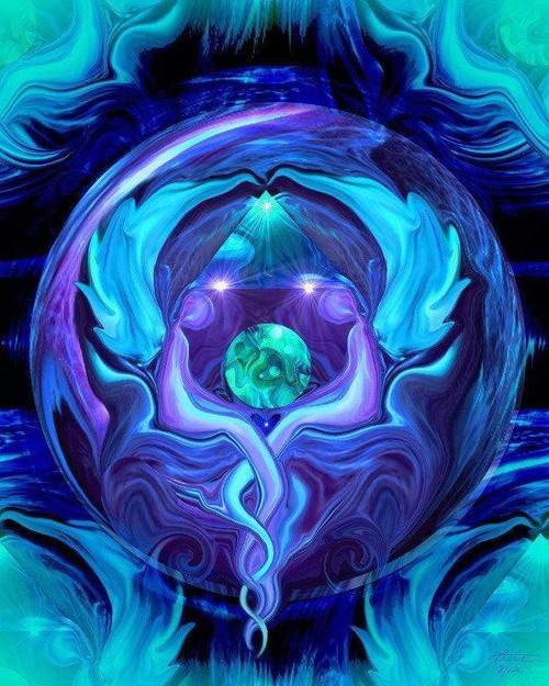 5D Diamond Painting Two Angel Sphere Kit
