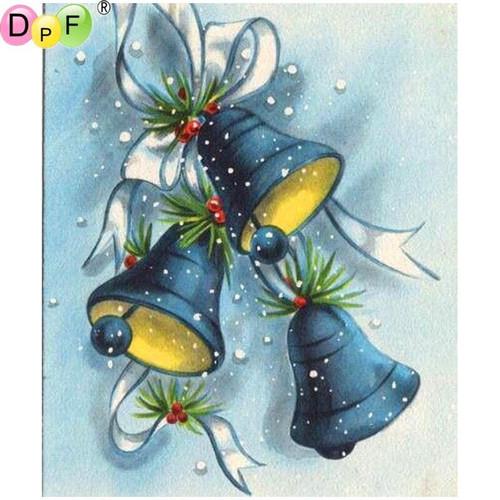 5D Diamond Painting Blue Christmas Bells Kit