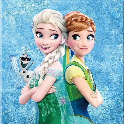 5D Diamond Painting Elsa and Anna Sisters Kit