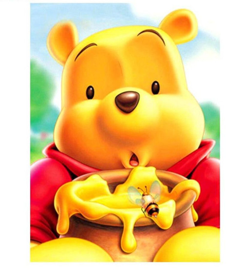 5D Diamond Painting Winnie the Pooh and a Bee Kit