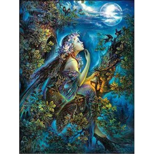 5D Diamond Painting Owl Fairy Moon Kit