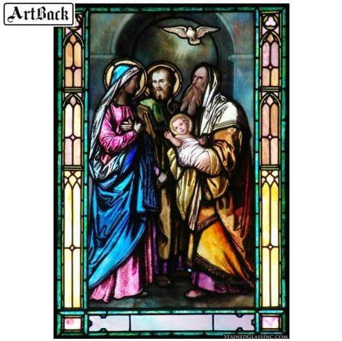 5D Diamond Painting Baby Jesus and Dove Kit