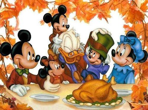 5D Diamond Painting Happy Thanksgiving Mickey Kit