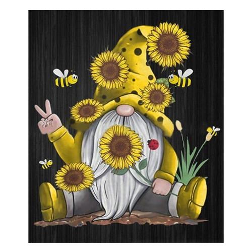 5D Diamond Painting Sunflower Gnome Kit